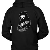 May The Stoner Sloth Be With You Hoodie Two Sided