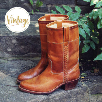 Vintage Braided Campus Boots