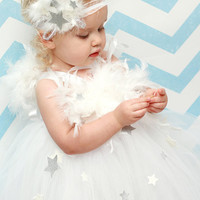 Angel Tutu, Tutu Dress, Angel Costume, Outfit of Choice, Pageant Dress, Photo Prop, 3T, 4T, 5T