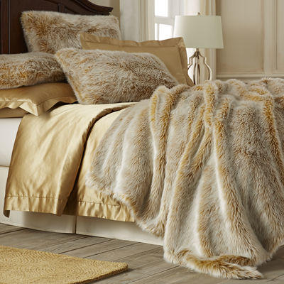 Gold Ombre Faux Fur Blanket Amp Shams From Pier 1 Imports