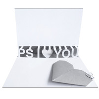 PS I Love You Pop up card with 3D type and by sarahlouisematthews