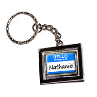 Nathaniel Hello My Name Is Keychain