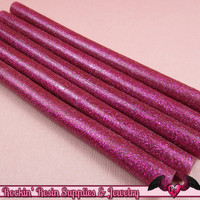 5 Glitter Fuchsia Pink Mini Hot GLUE STICKS / Deco Sauce / Fake Icing / Nail Art Stick / Faux Wax Seals