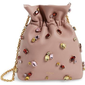 Mulberry Mini Lynton Embellished Leather Bucket Bag | Nordstrom