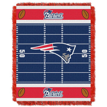 New England Patriots NFL Triple Woven Jacquard Throw (Field Baby Series) (36x48)