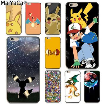MaiYaCa Best Pokemons Colorful Phone Accessories Case for Apple iPhone 8 7 6 6S Plus X 5 5S SE XS XR XS MAX Cover