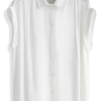 Soft Touch Sleeveless Top in White White S/M