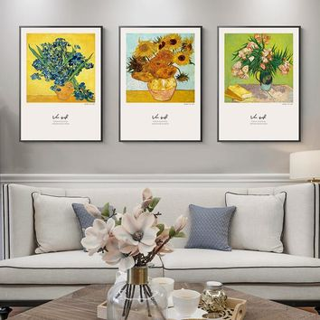 Abstrat Canvas Painting Famous Van Gogh starry sunflower Posters And Print Home Decorative Wall Art Pictures For Living Room