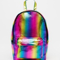 ASOS | ASOS Mini Festival Rainbow Backpack at ASOS