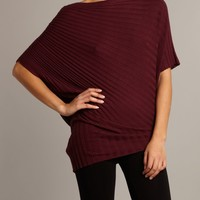 MaxStudio Twisted rib sweater Plum - House of Fraser