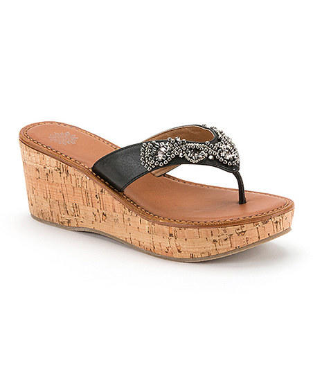 Yellow Box Shoes Black Mecca Wedge Sandal From Zulily