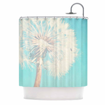 "Sylvia Coomes ""Aqua Dandelion"" Photography Floral Shower Curtain"
