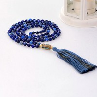 Handmade Lapis Beads Necklace
