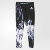 """Adidas"" Women Sports Casual Flame Smog Print Tight Yoga Leggings Pants Trousers Sweatpants"