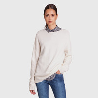 Felted Cashmere Crewneck Sweater - Ivory
