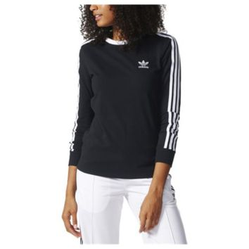 adidas Originals 3 Stripes Long Sleeve T-Shirt - Women's at Lady Foot Locker