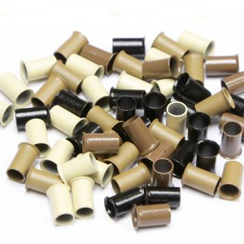 3.4mm*3.0mm*6.0mm Flared copper tubes extension hair Micro Rings/links/beads Hair Extensions Accessories 100pcs/lot