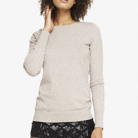 RHINESTONE SLEEVE CREW NECK SWEATER from EXPRESS