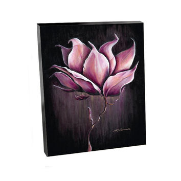 READY TO HANG 12 X 16, Cradled Art Panel Canvas Print, Magnolia Glow, Oil Painting, Flower, Décor, Decorating, Purple, Pink, Etsy, ArtBJC
