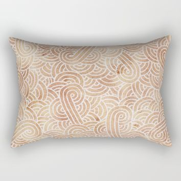 Iced coffee and white zentangles Rectangular Pillow by Savousepate