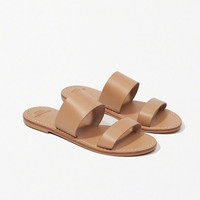 Womens Leather Slide Sandals | Womens New Arrivals | Abercrombie.com
