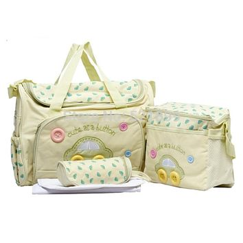 4 pcs Diaper Bags Designer Maternity Nappy Bags Mummy Baby Bag