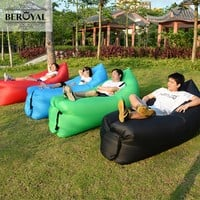 New 2017 Fast Inflatable Sofa Outdoor Air Bag Lazy Sofa Super Light Ultralight Camouflage Hiking Camping Beach Travel Lounger