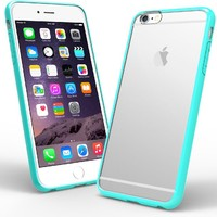 """Caseology® Apple iPhone 6 Plus (5.5"""" inch) Case [Clearback Bumper] TPU Hybrid Fusion [Turquoise Mint] [DIY Customization] Scratch-Resistant Clear Back Cover"""