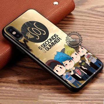5 Seconds of Summer Cute Chibi iPhone X 8 7 Plus 6s Cases Samsung Galaxy S8 Plus S7 edge NOTE 8 Covers #iphoneX #SamsungS8