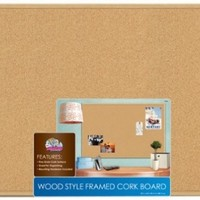"Board Dudes 23"" x 35"" Wood Style Frame Cork Board (CXM86)"