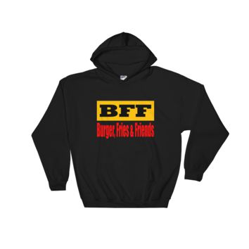 BFF Burger Friends & Fries - Black Hooded Sweatshirt