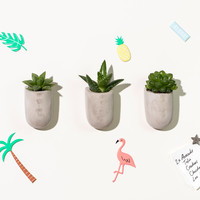 Mini Magnetic Concrete Planters | FIREBOX\u00ae