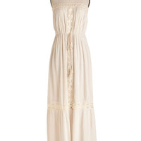 ModCloth Boho Long Strapless Maxi Let's Sway Together Dress