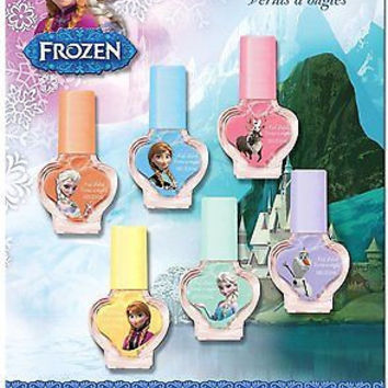 Disney Frozen Anna,Elsa&Olaf Nail 6 Pack Nail Polish Set-Brand New Factory Pkg!