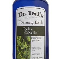 Dr. Teal's Foaming Bath (Epsom Salt), Eucalyptus Spearmint, 34 Fluid Ounce