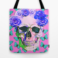 love skull Tote Bag by Ilola