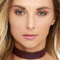 Vanessa Mooney Lestat Burgundy Choker Necklace