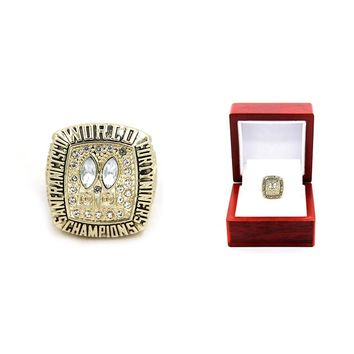Drop shipping zinc alloy 1984 San Francisco The 49ers Championship Rings set With Wooden Box