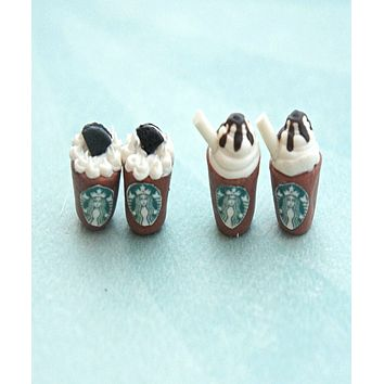 Starbucks Mocha Stud Earrings