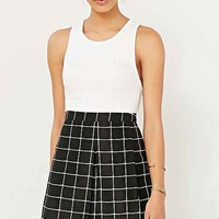 Silence + Noise Inverted Pleated Mini Skirt
