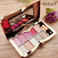 10colors Makeup Eyeshadow glitter of diamonds eye shadow palette professional makeup kit cosmetic maquiagem matte Eyeshadow