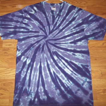 S M L XL Tie Dye Shirt, Adult, Short Sleeve - Purple Spiral