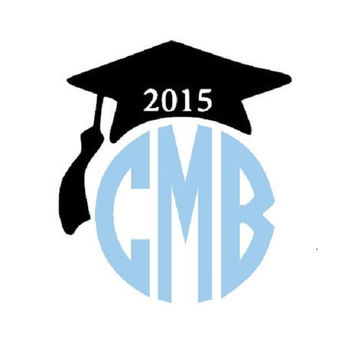 Class of 2015 Monogram Iron On, Graduation Monogram Iron On Transfer, Iron On Letters, Heat Transfer Monogram
