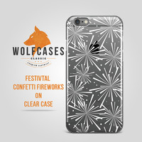 iPhone 6 Case Clear Confetti Festival iPhone 6s Case Winter Fireworks iPhone 6s Plus Case White Confetti Ultrathin Protective Case iPod 017
