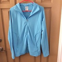 Adidas Light Blue Climalite Zip Up Jacket Size L