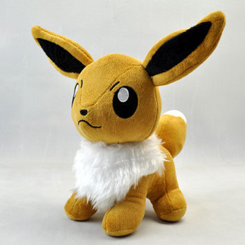 Pokemon Eevee Plush Toys Doll Big Size 28cm Stand Pocket Monster Eevee Stuffed Plush Toys Figure Collectible Toy Gift for Kids