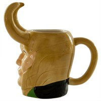 ONETOW Thor - Loki Head 16oz Molded Mug