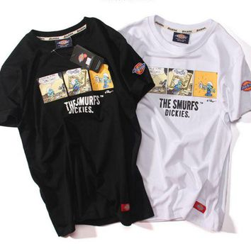 DCCKL72 Dickie cartoon couple T-shirt short sleeved men's and women's cotton T