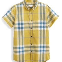 Infant Boy's Burberry Plaid Woven Shirt,