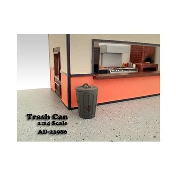 Trash Can Accessory Set of 2 For 1:24 Scale Models by American Diorama